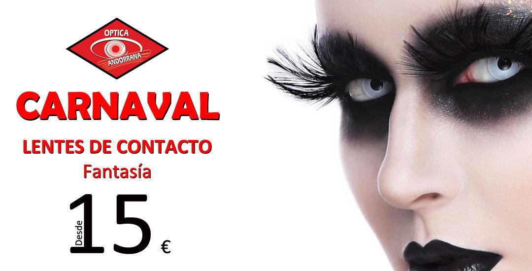 En Carnaval, disfraza tus ojos con lentillas de fantasía