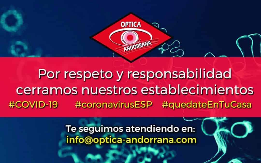 Coronavirus: cerramos nuestros establecimientos
