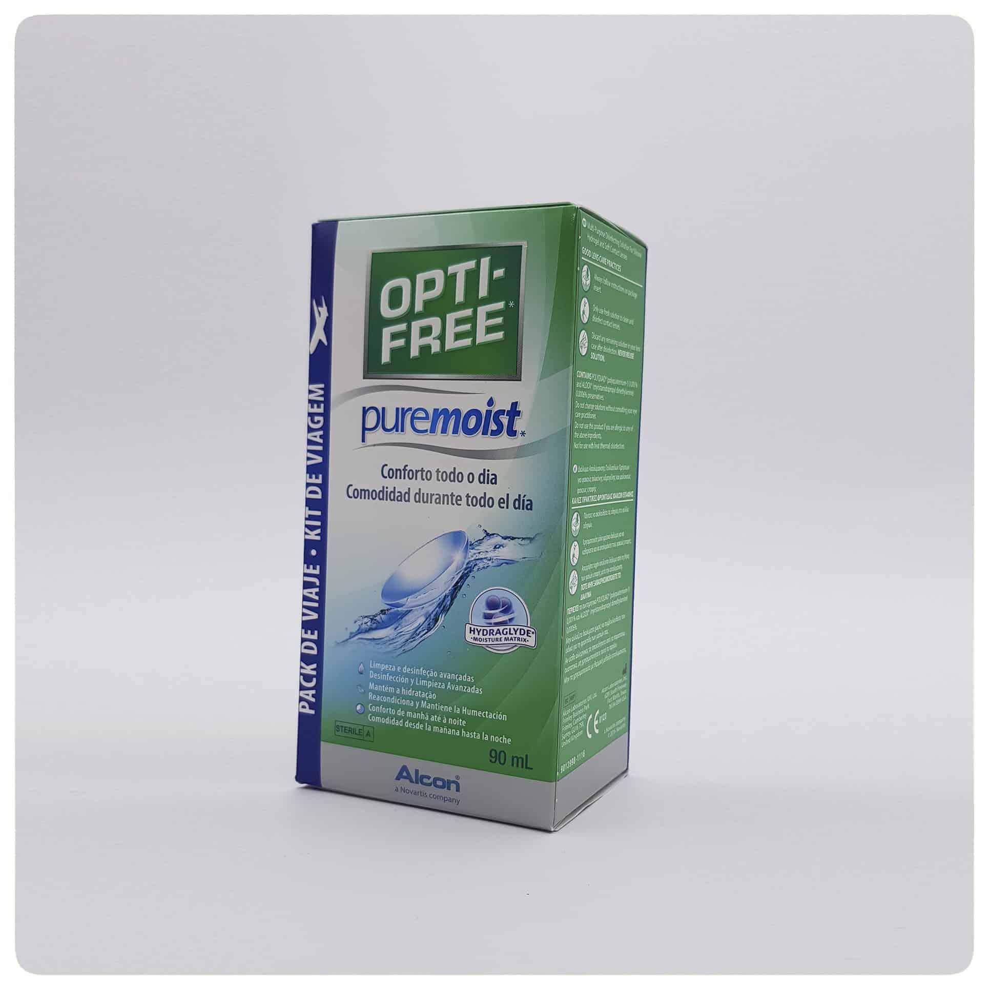 Líquido de mantenimiento de lentillas Opti-free PureMoist (90ml)