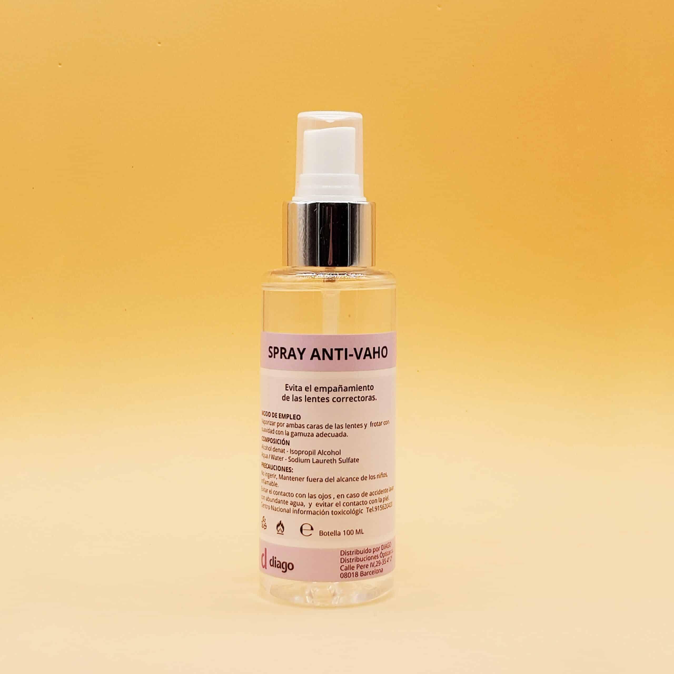 Spray Antivaho Diago - Evita el empañamiento de las lentes correctoras